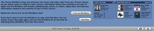 MiniStore teaser in iTunes