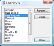 Managing Equalizer presets in iTunes