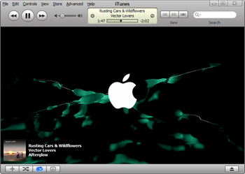iTunes' Visualizer in action