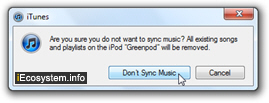 Delete music and audio files from your iPod shuffle