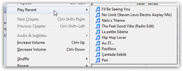 Find the last songs you recently played in iTunes