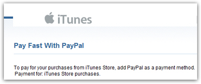 iTunes - Accepts Paypal!
